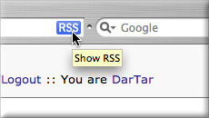 RSS autodiscovery screenshot